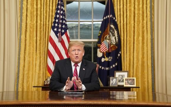 Trump apuesta a retomar la iniciativa en el asunto del muro, que lo ayudó a ganar las elecciones en 2016. FOTO AFP