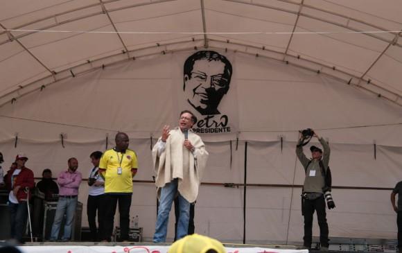 El candidato Petro acostumbra mencionar a los caudillos liberales Jorge Eliécer Gaitán y Luis Carlos Galán. FOTO cortesía campaña