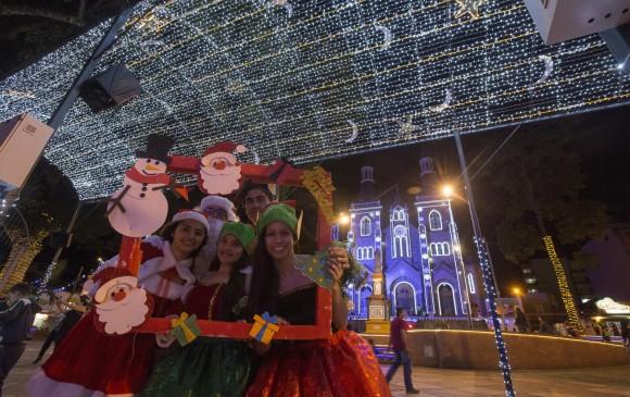 Así luce la navidad en La Estrella, sur del Aburrá. FOTO MANUEL SALDARRIAGA