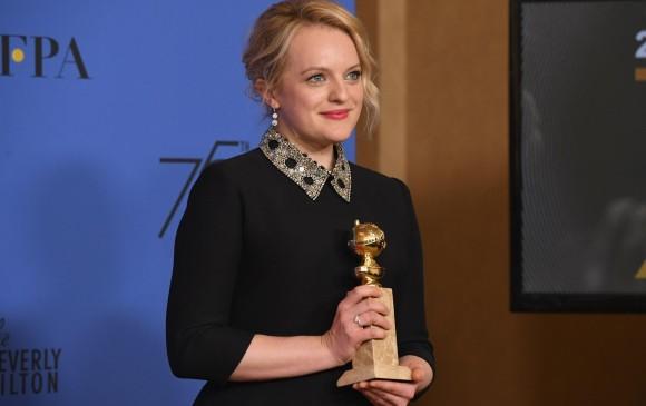 Elisabeth Moss fue la Mejor Actriz dramática en una serie por THe Handmaid's Tale. FOTO AFP