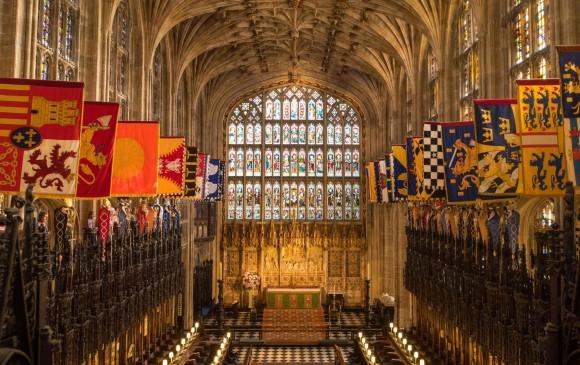 Este es la capilla de San Jorge, en el Castillo de Windsor. FOTO AFP