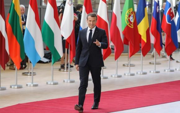 Emmanuel Macron, presidente de Francia, quien ha sido un aliado de la canciller alemana Angela Merkel.