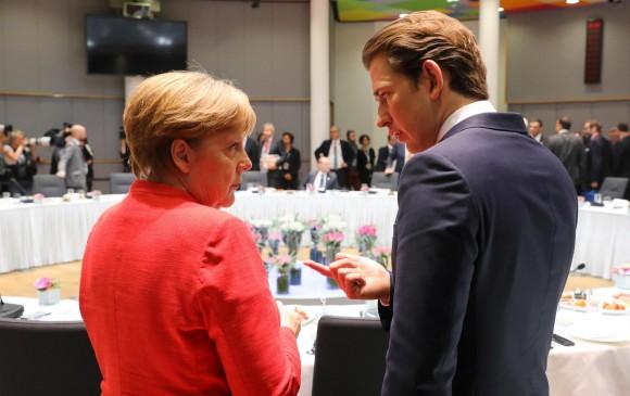 La canciller alemana, Angela Merkel, lideró la reunión en la que las naciones acordaron mecanismos migratorios. FOTO AFP