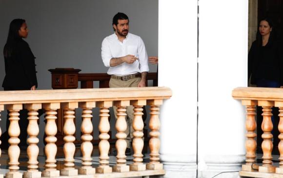 El exalcalde opositor de San Cristóbal Daniel Ceballos antes de la reunión previa a su liberación. FOTO REUTERS