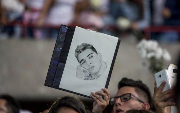 Homenaje y último adiós al youtuber Fabio Legarda, en el Centro de Espectáculos La Macarena, fallecido por una bala perdida en el barrio El Poblado. Foto: Santiago Mesa Rico