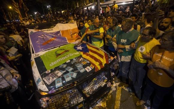 Se incautaron millones de papeletas de votación para el referéndum de Cataluña