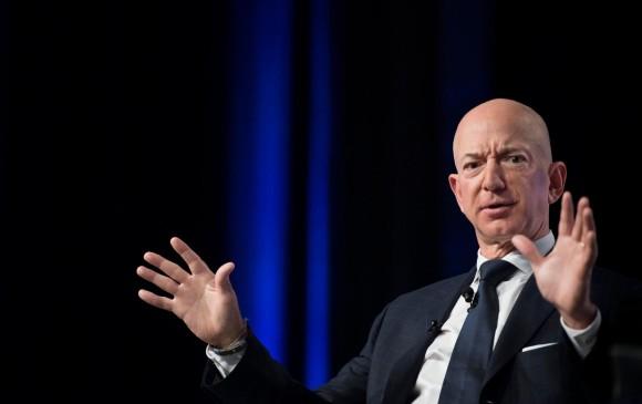 Jeff Bezos, propietario de Amazon y del diario The Washington Post. Foto AFP