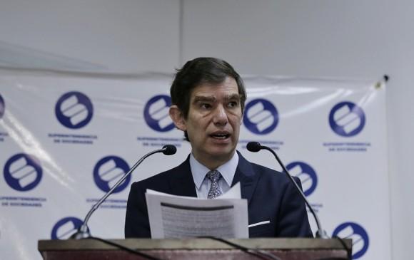 Yesid Reyes Villamizar, Superintendente de Sociedades. Foto: Colprensa