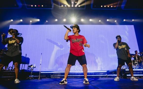 Bruno Mars en su concierto en Colombia. FOTO Colprensa
