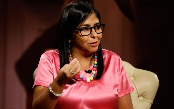 La vicepresidente de Venezuela Delcy Rodríguez. Foto: EFE.