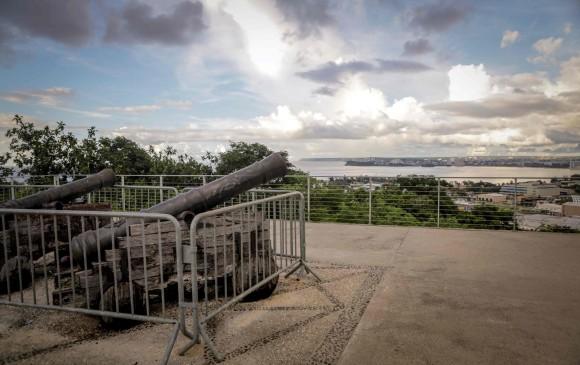Estos cañones son el legado español de la isla de Guam. FOTO AFP