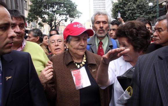 Gloria Gaitán declaró ante el Consejo Pleno que era víctima del senador y expresidente Álvaro Uribe Vélez, y que tenía pruebas que demostraban las acciones del funcionario público en contra de ella. FOTO COLPRENSA
