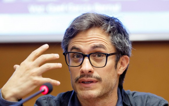 El actor mexicano Gael García Bernal dió una rueda de prensa en el marco del Festival Internacional de Cine sobre Derechos Humanos en Ginebra, Suiza, este 13 de marzo de 2018. Foto: EFE/ Salvatore Di Nolfi