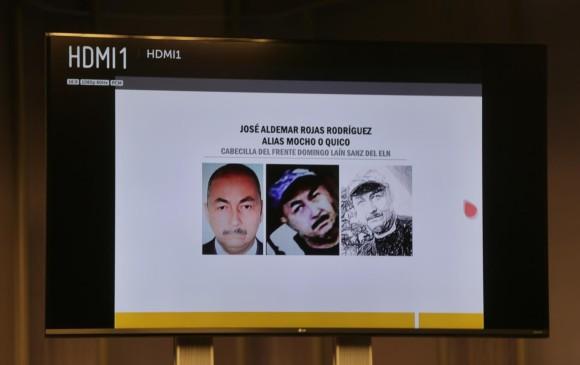 El ministro de defensa, Guillermo Botero, entregó pruebas sobre el autor material del atentado. FOTO COLPRENSA