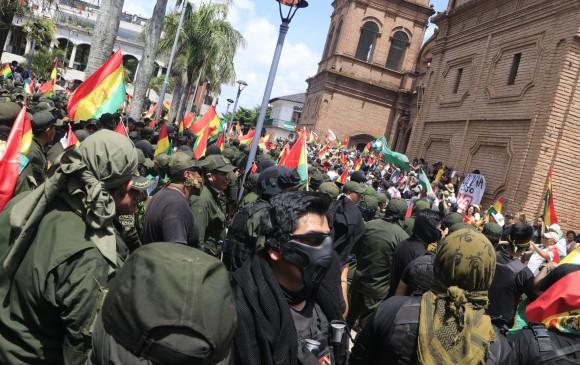 Las FF.AA. están en las calles de Bolivia