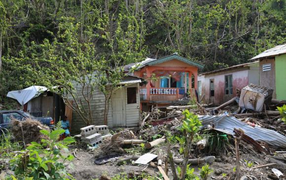 Dalos en Dominica por el huracán María, uno de los países más afectados por el clima. Foto DFID