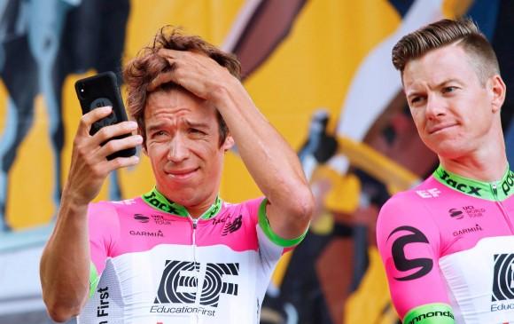 Entre los opcionados a ganar la edición 105 del Tour aparece Rigoberto Urán, quien ha comenzado muy bien y después de las tres primeras etapas tiene un puesto de lujo, décimo. FOTO EFE