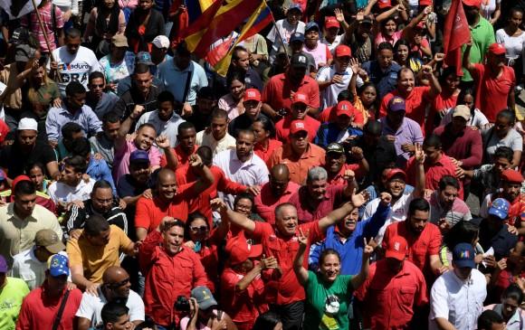 En medio de la movilización chavista el dirigente Diosado Cabello lazó mensajes de advertencia a la oposición