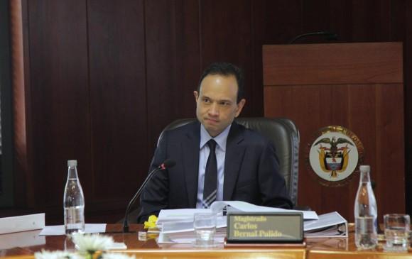 Plenaria del Senado acepta renuncia del magistrado Carlos Bernal