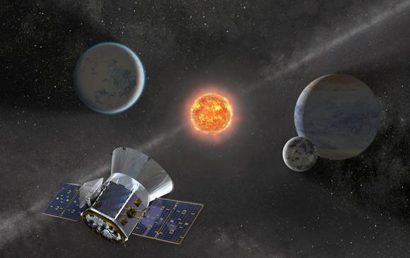 Se espera que Tess, que aparece en esta ilustración, detecte más planetas que Kepler y que muchos de ellos sean tipo Tierra que residan en regiones habitables. FOTO Nasa