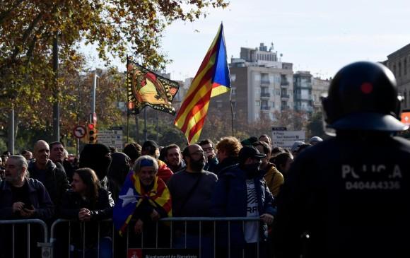 Altercados y protestas durante reunión del gobierno español en Barcelona