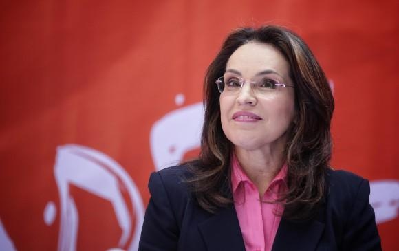 Viviane Morales recibió el apoyo del partido cristiano Colombia Justa Libres. FOTO: Colprensa