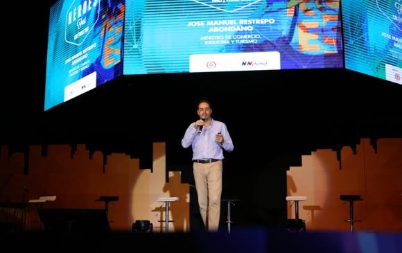 José Manuel Restrepo, ministro de Comercio, Industria y Turismo, dijo en el marco del Héroes Fest que los emprendedores son gran parte del eje fundamental de su cartera. FOTO colprensa