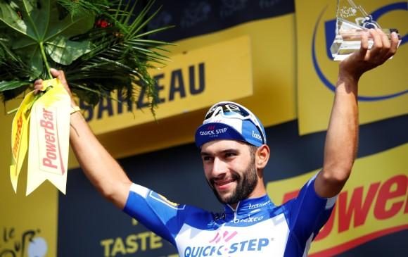 Fernando Gaviria ganó su segunda etapa en el Tour de Francia. FOTO EFE