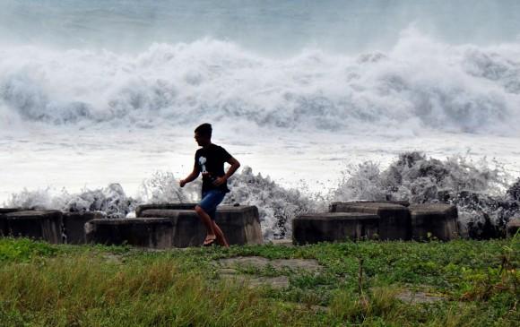 El tifón Mangkhut tendría los efectos de Haiyan, en 2013, que dejó 7.000 víctimas. FOTO AFP