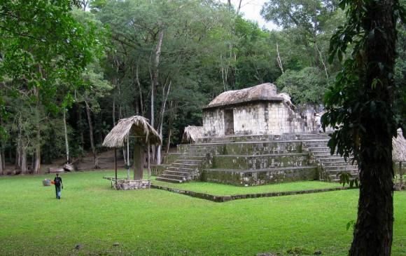 Ashley Sharpe en el sitio de Ceibal en Guatemala, uno de los sitios mayas más antiguos. Foto: Ashley Sharpe | Smithsonian Tropical Research Institute