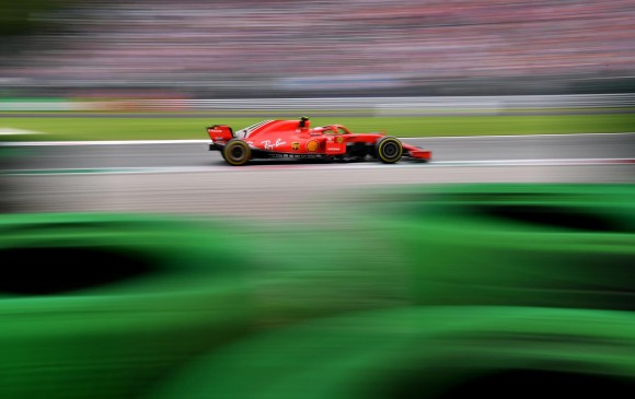 Kimi Raikkonen en la vuelta de este sábado. FOTO AFP