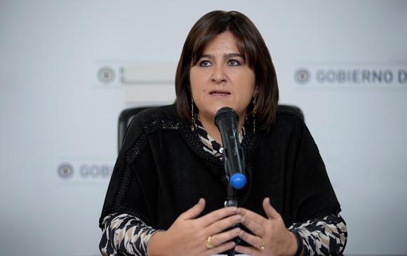 María Lorena Gutiérrez, ministra de Comercio, Industria y Turismo, ha liderado los avances. FOTO Colprensa