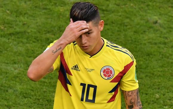 James Rodríguez. Foto: AFP.