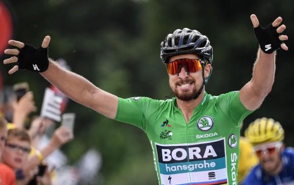 Peter Sagan, ganador este miércoles de la quinta etapa del Tour. FOTO EFE