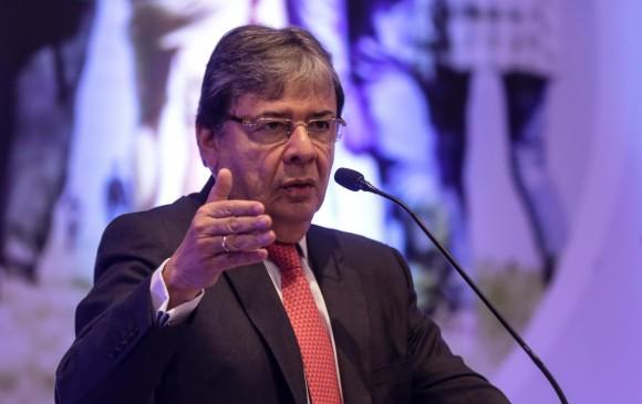 El canciller Carlos Holmes Trujillo aseguró que se formalizará la mesa de fronteras con autoridades nacionales y de cooperación internacional. Foto Colprensa
