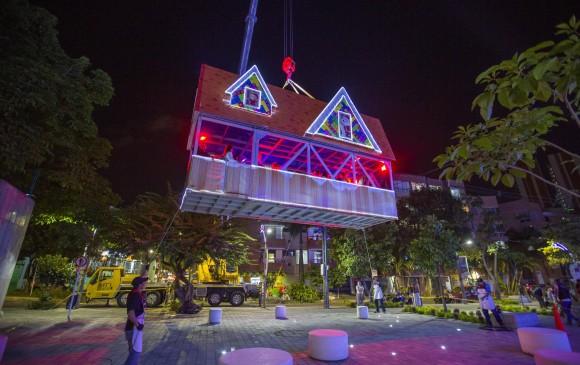 Casa de Papa Noel en Sabaneta. Foto: Edwin Bustamante Restrepo