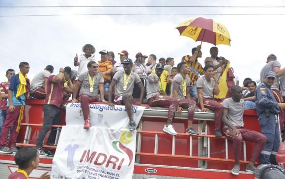Ibagué recibe como héroes a los jugadores del Tolima