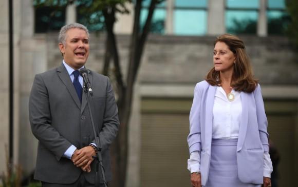 Iván Duque y Marta Lucía Ramírez. FOTO COLPRENSA