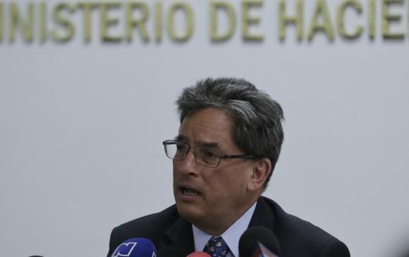 Alberto Carrasquilla, ministro de Hacienda. Foto: Colprensa