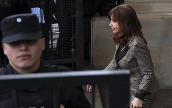 Cristina Fernández de Kirchner, expresidenta de Argentina. FOTO: AFP
