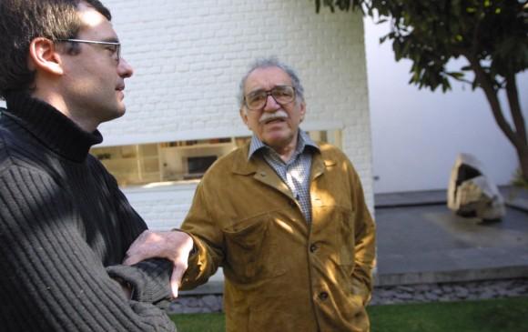 El periodista con Gabriel García Márquez. FOTOS Kim Manresa