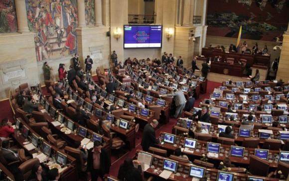 Imagen de archivo. Discusión de la Ley Estatutaria de la JEP. FOTO: COLPRENSA.
