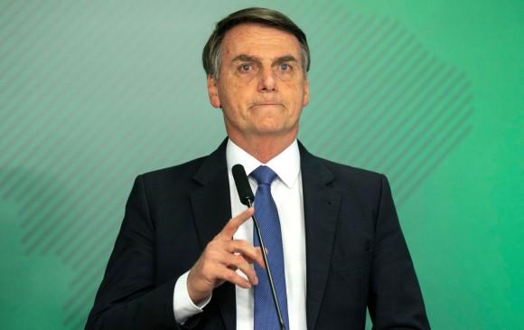 El presidente de Brasil, Jair Bolsonaro. FOTO AFP