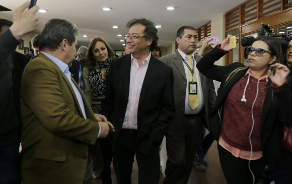 Excandidato presidencial y actual senador Gustavo Petro. FOTO COLPRENSA