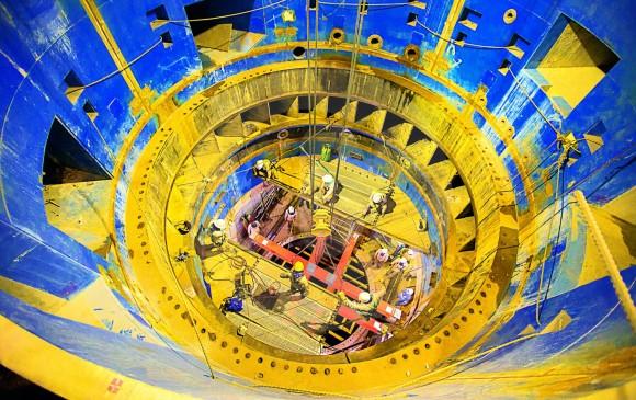 Casa de maquinas, allí se ubican las turbinas que generan energía, además de ser la central de control de toda la hidroeléctrica.
