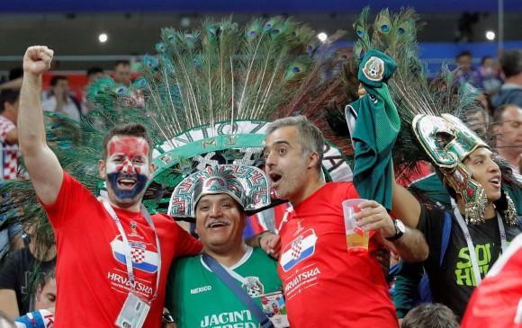 El Mundial ha permitido la integración entre los hinchas de diferentes nacionalidades. FOTO: EFE