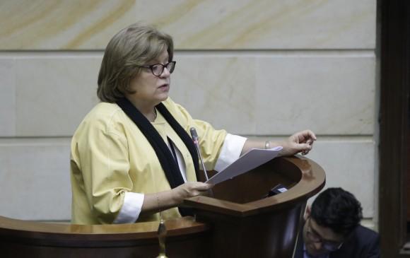 La ministra de Justicia, Gloria María Borrero, ha sido una de las más criticadas por la gestión de la reforma. FOTO Colprensa