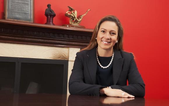 La presienta del gremio, María Alexandra Gruesso, resaltó la labor innovadora de las empresas paisas afiliadas. FOTO Cortesía Andigraf
