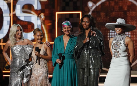 Lady Gaga, Jada Pinkett-Smith, Alicia Keys, Michelle Obama y Jennifer López. FOTO Reuters