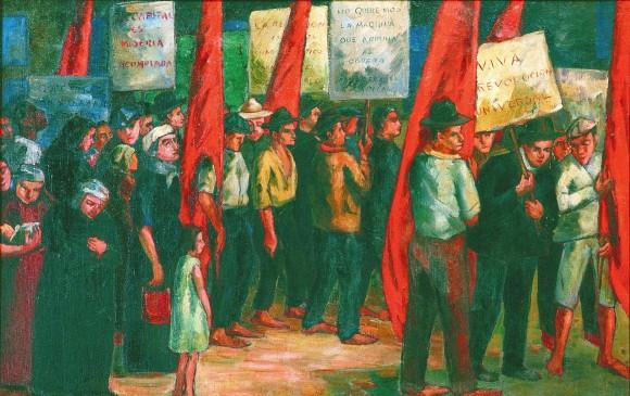 Manifestación1946 Sala de la tertulia. Casa patrimonial.